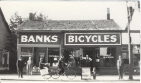 Banks bike shop in Pbro 1935