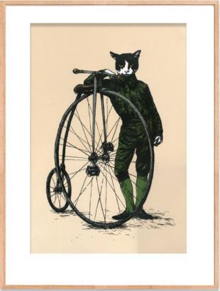 Stephen Appleby-Barr high wheel gentleman cat