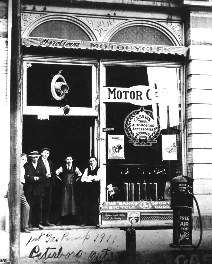 1911 First Gas Pump 338 George St N Peterborough