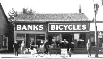 1935 07 01 Banks Bikes at 195 Charlotte St Peterborough