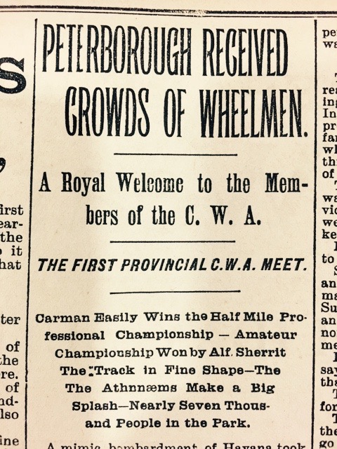 Ptbo Rcvd Crowds of Wheelmen Examiner headline.jpeg